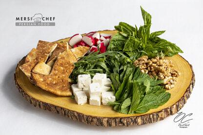 FRESH BREAD AND HERB PLATTER (SABZI KHORDAN)